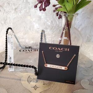 Coach Plaque Necklace